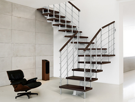 escalera metalica para hogar ferreteria recta tramo